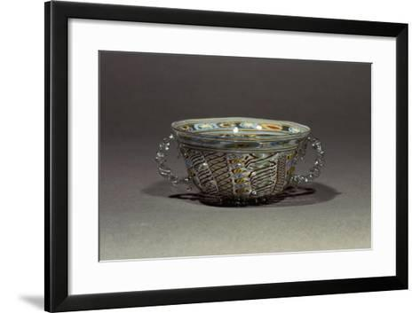 Two-Handled Bowl in Decorated Crystal Glass, Italy, 16th-17th Century--Framed Art Print
