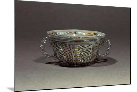 Two-Handled Bowl in Decorated Crystal Glass, Italy, 16th-17th Century--Mounted Giclee Print