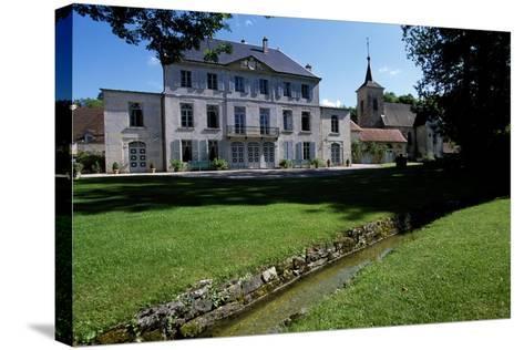 View of Chateau De Salans, Franche-Comte, France--Stretched Canvas Print