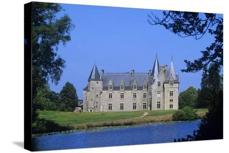 France, Brittany, Chateau De La Motte Beaumanoir--Stretched Canvas Print