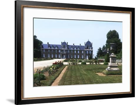 France, Brittany, Main Façade and Garden of 18th Century Caradeuc Castle--Framed Art Print