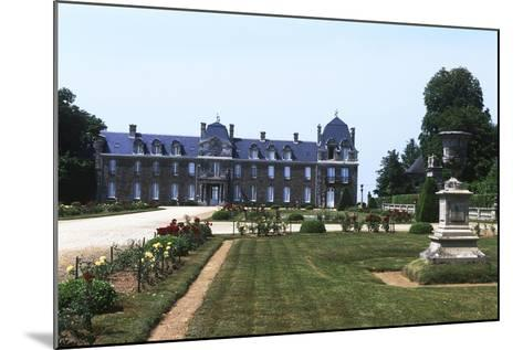 France, Brittany, Main Façade and Garden of 18th Century Caradeuc Castle--Mounted Giclee Print