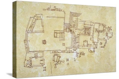 Map of Copan Site, Mayan Civilization--Stretched Canvas Print