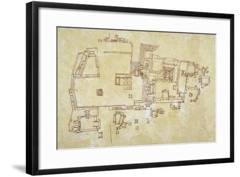 Map of Copan Site, Mayan Civilization--Framed Art Print