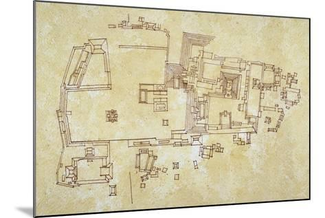 Map of Copan Site, Mayan Civilization--Mounted Giclee Print