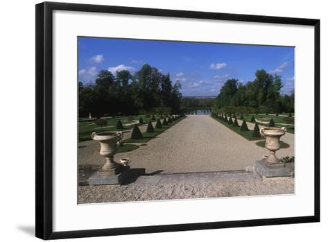France, Champagne-Ardenne, Park at La Motte-Tilly Castle--Framed Art Print