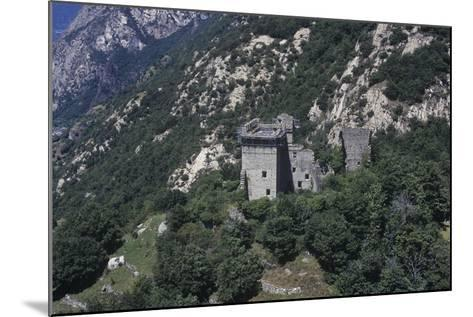 Italy, Aosta Valley, Lys Valley, Superior Castle of Arnad, Aerial View--Mounted Giclee Print