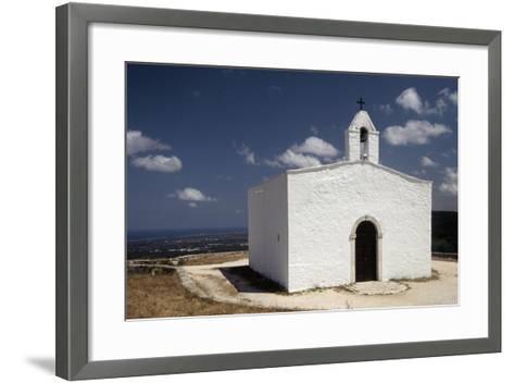 Italy, Puglia, Monopoli, Loggia of Pilate, View of St Michele Church--Framed Art Print