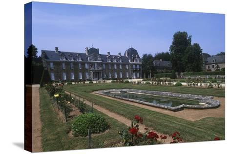 France, Brittany, Garden of 18th Century Caradeuc Castle--Stretched Canvas Print