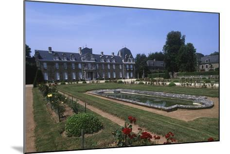 France, Brittany, Garden of 18th Century Caradeuc Castle--Mounted Giclee Print