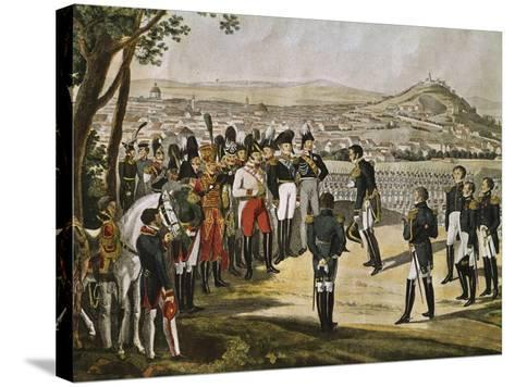 Surrender of City of Paris to Allies, March 31, 1814, Napoleonic Wars, France--Stretched Canvas Print