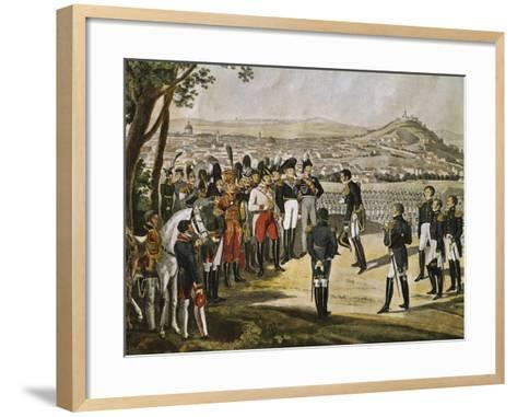 Surrender of City of Paris to Allies, March 31, 1814, Napoleonic Wars, France--Framed Art Print
