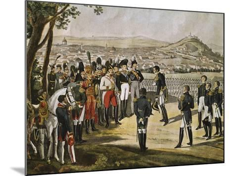 Surrender of City of Paris to Allies, March 31, 1814, Napoleonic Wars, France--Mounted Giclee Print