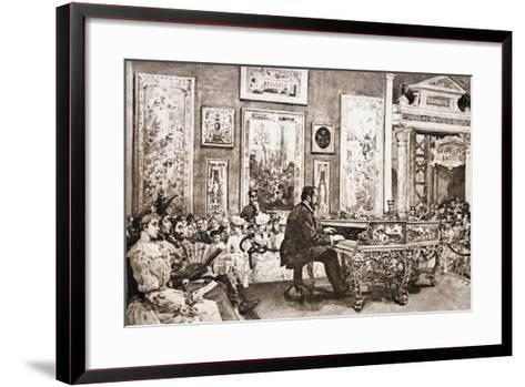 Mr Delaborde Giving Concert on Pleyel Piano, Exposition Universelle, 1889--Framed Art Print