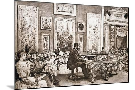 Mr Delaborde Giving Concert on Pleyel Piano, Exposition Universelle, 1889--Mounted Giclee Print