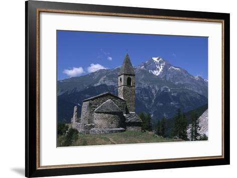 France, Rhone-Alpes, Vanoise Massif, Church of Saint Pierre D'Extravache--Framed Art Print