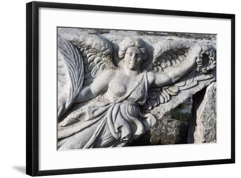 Detail of Frieze in Ephesus, Turkey, Greek-Roman Civilization--Framed Art Print