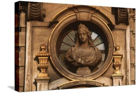 Belgium, Brussels, Grand Place, Decorative Detail--Stretched Canvas Print