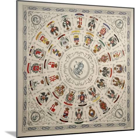 Italy, Scarf Depicting Coat of Arms of Cavalry Regiment--Mounted Giclee Print