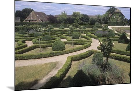 France, Aquitaine, Gardens of 13th Century Castle of Beauvoir--Mounted Giclee Print