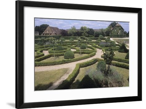 France, Aquitaine, Gardens of 13th Century Castle of Beauvoir--Framed Art Print