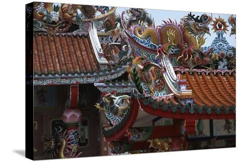 Thailand, Bangkok, Chinese Reliquary Nearby Floating Market--Stretched Canvas Print