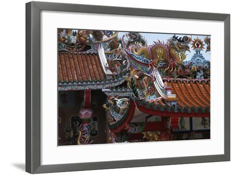 Thailand, Bangkok, Chinese Reliquary Nearby Floating Market--Framed Art Print