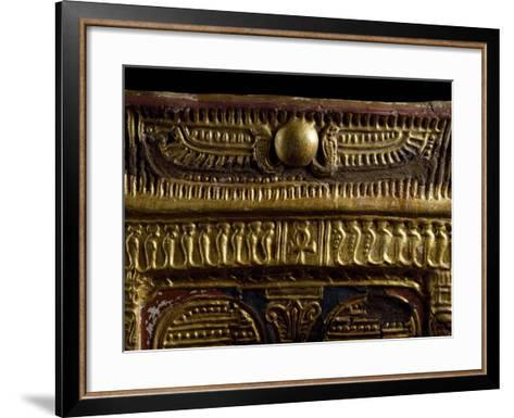 Golden Winged Disc, Cartonnage from Mummy, Detail, Ptolemaic Period--Framed Art Print