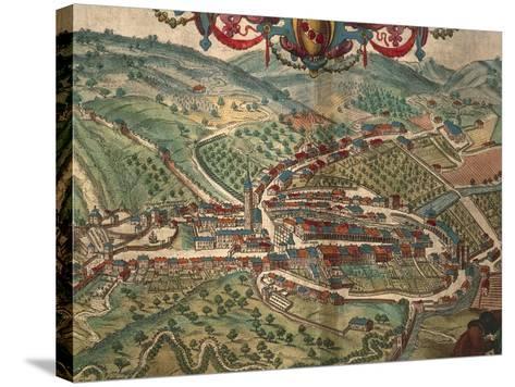 Serravalle Scrivia from Civitates Orbis Terrarum--Stretched Canvas Print
