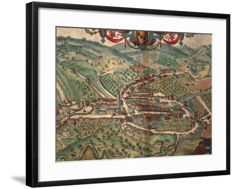 Serravalle Scrivia from Civitates Orbis Terrarum--Framed Art Print