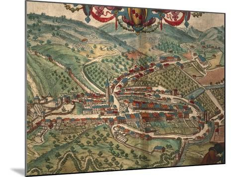 Serravalle Scrivia from Civitates Orbis Terrarum--Mounted Giclee Print