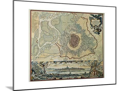 Austria, Vienna, Plan, 1720--Mounted Giclee Print