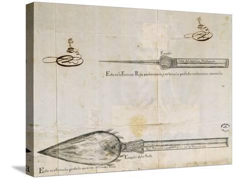 Arrows Used by Wayuu People, La Guajira Peninsula, Between Colombia and Venezuela, 1763--Stretched Canvas Print