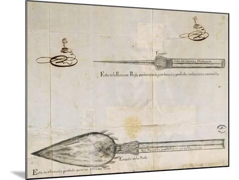 Arrows Used by Wayuu People, La Guajira Peninsula, Between Colombia and Venezuela, 1763--Mounted Giclee Print