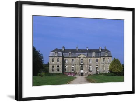 France, Brittany, Morbihan, Guegon, Main Façade of Treganteur Castle--Framed Art Print