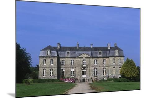 France, Brittany, Morbihan, Guegon, Main Façade of Treganteur Castle--Mounted Giclee Print