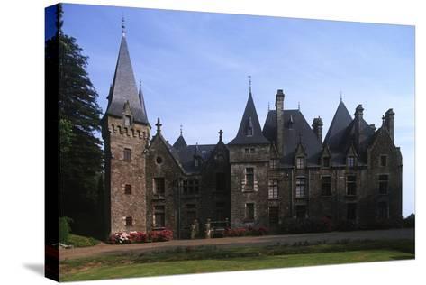 France, Brittany, Val-D'Izé, Ille-Et-Vilaine, Bois Cornillé Castle--Stretched Canvas Print