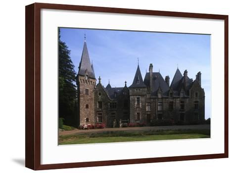 France, Brittany, Val-D'Izé, Ille-Et-Vilaine, Bois Cornillé Castle--Framed Art Print