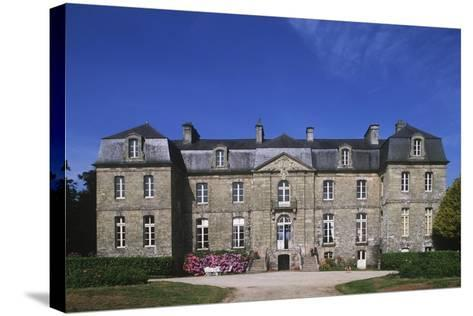 France, Brittany, Morbihan, Guegon, Main Façade of Treganteur Castle--Stretched Canvas Print