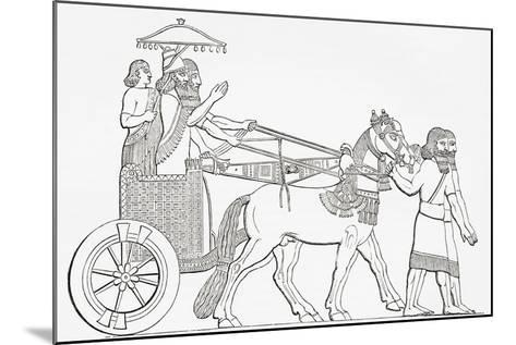 An Assyrian King in His Chariot of State, from the Imperial Bible Dictionary, Published 1889--Mounted Giclee Print