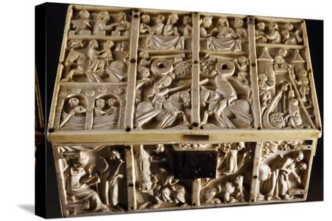 Jewelry Box with Roman and Allegorical Subjects, Ivory Decorated in Relief--Stretched Canvas Print