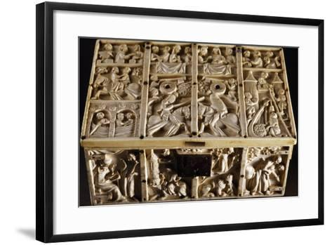 Jewelry Box with Roman and Allegorical Subjects, Ivory Decorated in Relief--Framed Art Print