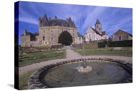 France, Aquitaine, Jumilhac-Le-Grand, Jumilhac Castle--Stretched Canvas Print
