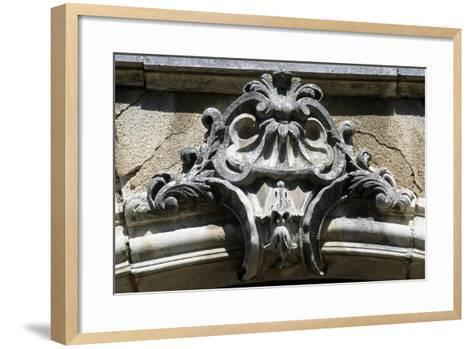 Architectural Detail from Chateau De Pommard, Burgundy, France--Framed Art Print
