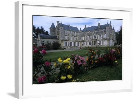 France, Vendée, Fontenay-Le-Comte, 16th Century Terre-Neuve Castle, in Renaissance Style--Framed Art Print