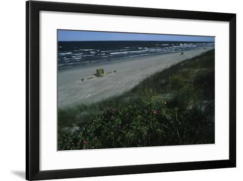 Lithuania, Neringa, Klaipeda, Curonian Spit, Beach Along Baltic Sea--Framed Art Print