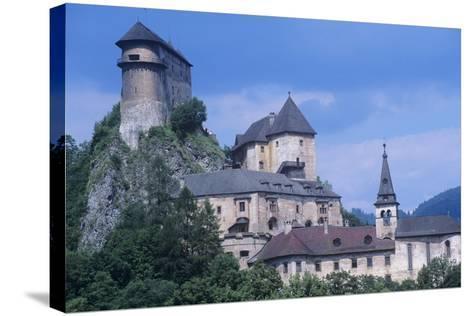 Slovakia, Oravsk  Podzámok, 13th Century Orava Castle--Stretched Canvas Print