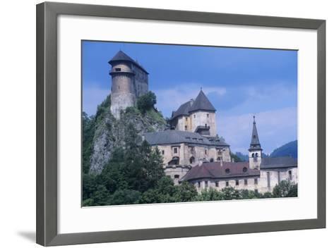 Slovakia, Oravsk  Podzámok, 13th Century Orava Castle--Framed Art Print