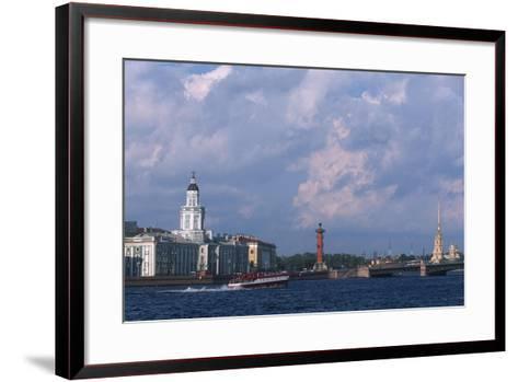 Russia, Saint Petersburg, Historic Centre, Vasilievsky Island--Framed Art Print