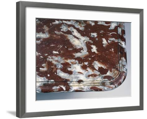 Top of Louis XIV Style Oak and Red Languedoc Marble Console Table, France, Detail--Framed Art Print